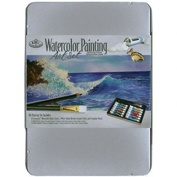 ARTISTS WATERCOLOR PAINTING ART SET IN TIN BY ROYAL & LANGNICKEL